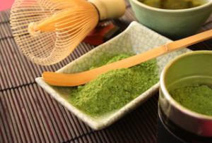 green tea dish